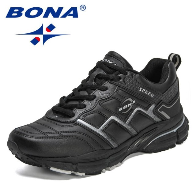 BONA 2021 New Designers Running Shoes Men Comfortable Breathable Sneaker Casual Antiskid Wear-Resistant Jogging Shoes Mansculino