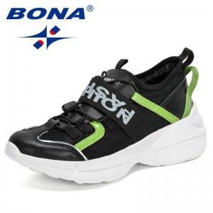BONA 2021 New Designers Casual Shoes Comfortable Mesh Sneakers Ladies Wedges Chunky Women's Vulcanized Shoes Walking Footwear