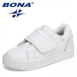 BONA 2021 New Designers Trendy Sneakers Boys Casual Shoes Girls Breathable Running Trainers Footwear Children Jogging Footwear