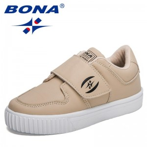 BONA 2021 New Designers Flat Chunky Sneakers Lightweight Children Casual Running Shoes Child Pu Leather Tenis Jogging Footwear
