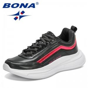 BONA 2021 New Designers Classics Sneakers Women Fashion Comfortable Platform Vulcanize Shoes Casual Footwear Ladies Leisure Shoe