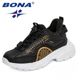 BONA 2021 New Designers Fashion Sports Shoes Children Running Leisure Breathable Outdoor Shoes Child Lightweight Sneakers Shoes