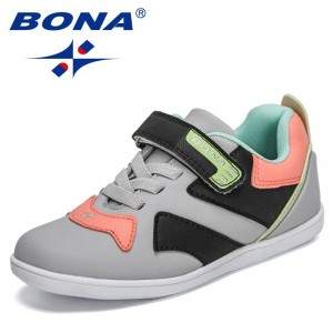 BONA 2021 New Designers Sports Shoes Children Casual Breathable Kids Fashion Sneakers Shoes Non-slip Outdoor Walking Footwear
