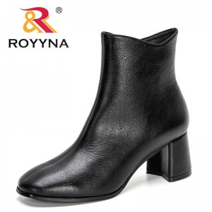 ROYYNA 2021 New Designers Fashion Casual Shoes Women Comfortable Zipper Sneakers High Top High Heels Ankle Boots Woman Comfort