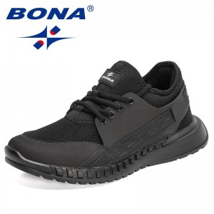 BONA 2021 New Designers Casual Shoes Breathable Outdoor Mesh Light Soft Sneakers Men Fashion Shoes Leisure Footwear Mansculino