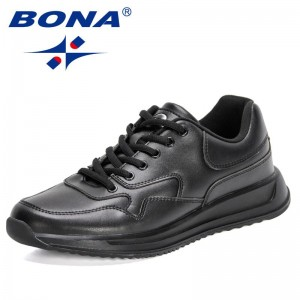 BONA 2021 New Designers High Quality Big Size Casual Shoes Men Fashion Business Comfy Shoes Man Breathable Leisure Shoes Male