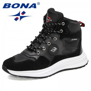 BONA 2021 New Designers Classics Warm Snow Boots High Top Shoes Men Outdoor Sneakers For Man Leisure Anti-Slip Footwear Comfort