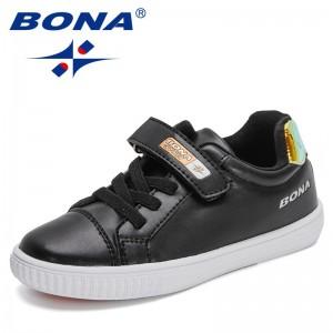 BONA 2021 New Designers Classics Casual Sneakers Children High Quality Skateborading Shoes Kids Sport Shoes Jogging Footwear