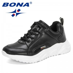 BONA 2021 New Designers Luxury Brand Shoes Women Flats Fashion Sneakers Platform Shoes Ladies Solid Breathable Casual Footwear
