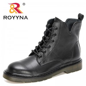ROYYNA 2021 New Designers Ankle Boots For Women Brand Autum Winter Boots Ladies Fashion Warm Boot Solid Flat Heel Shoes Feminimo