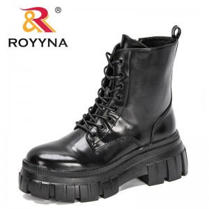 ROYYNA 2021 New Designers High Quality Luxury Brand Mid-Calf Boots Women High Top Winter Boots Ladies Platform Shoes Feminimo
