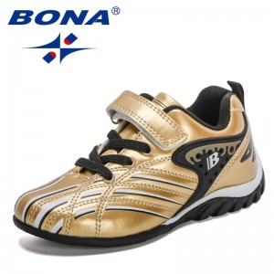 BONA 2021 New Designers Sports Shoes High Quality Outdoor Sneakers Boys Girls Leisure Trainers Shoe Kids Casual Soccers Children