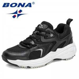BONABONA 2021 New Designers Running Shoes Breathable Shoes Women Light Weight Sports Shoes Walking Sneakers Ladies Jogging Footwear