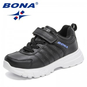BONA 2021 New Designers Copular Sports Shoes High Quality Sneakers Children Leisure Trainers Shoes Kids Casual Shoes Boys Girls