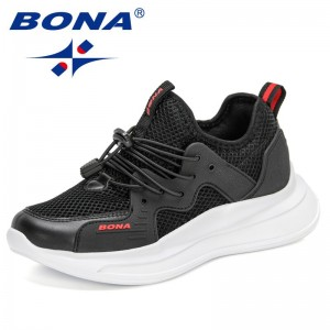 BONA 2021 New Designers Luxury Brand Fashion Sneakers Women Shoes Lace-Up Casual Shoes Woman Leisure Footwear Zapatos De Mujer