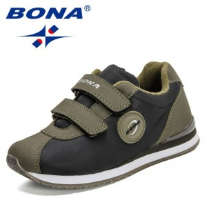 BONA 2021 New Designers Breathable Sneakers Children Casual Shoes Lightweight Girls Sports Running Shoes Boys Walking Shoes Kids