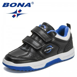 BONA 2021 New Designers Children Athletic Shoes Brand Flat Sneakers Kids Fashion Casual Shoes Walking Footwear Boys Girls Comfy