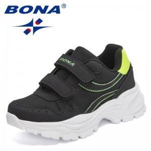 BONA 2021 New Designers Classics Sneakers Children Sport Jogging Walking Shoes Kids Leisure Trainers Casual Shoes Child Comfy
