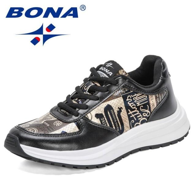 BONA 2021 New Designers Fashion Casual Walking Shoes Women Chunky Sneakers Shoes Ladies Leisure Comfortable Footwear Feminimo