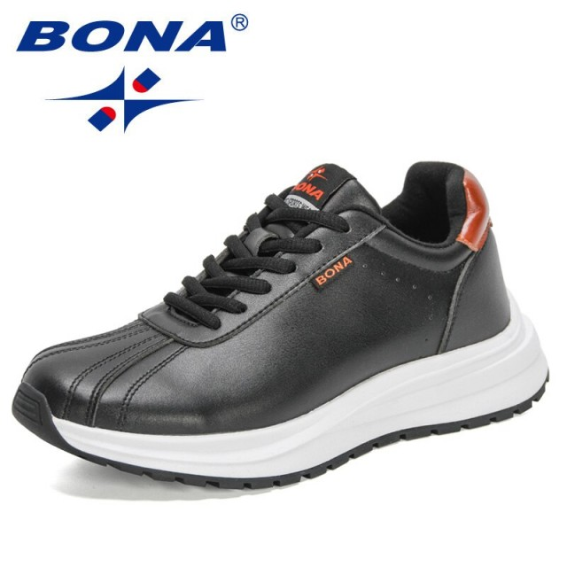 BONA 2021 New DesignersClassics Casual Shoes Women Comfortable Lace-Up Wedges Chunky Walking Shoes Ladies Vulcanized Shoes Woman