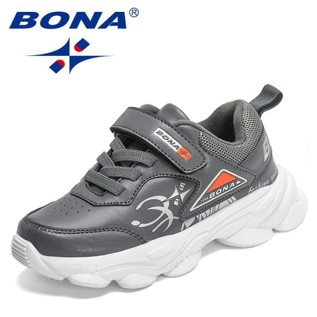 BONA 2021 New Designers Children Shoes Boys Casual Chunky Sneakers Girls Sport Jogging Footwear Child Athletic Walking Shoes