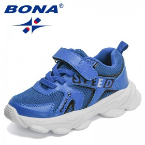 BONA 2021 New Designers Trendy Sneakers Breathable Mesh Girls Running Shoes Lightweight Casual Walking Shoes Boys Jogging Shoes