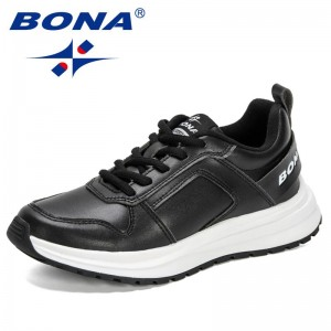 BONA 2021 New Designers Chunky Sneakers Woman Breathable Running Shoes Ladies Fashion Platform Casual Footwear Feminimo Comfort