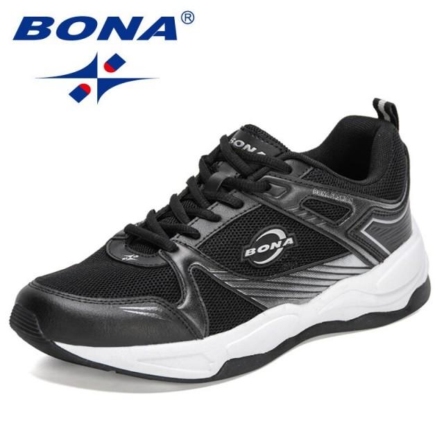 BONA 2021 New Designers Casual Sneakers Shoes Men Breathable Mesh Running Shoes Man Jogging Walking Footwear Mansculino Comfort