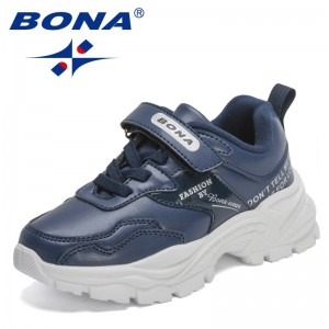 BONA 2021 New Designers High Qualitty Sports Shoes For Girls Fashion Casual Running Sneakers Shoes Boys Walking Jogging Footwear