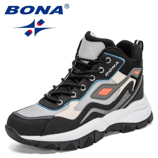 BONA 2021 New Designers High Quality Advanced Luxury Brand High Top Sneakers Men Colored Winter Shoes Man Warm Shoes Mansculino