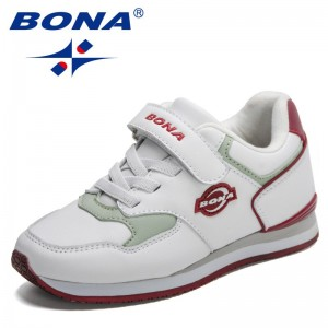 BONA 2021 New Designers Sport Shoes For Boys Running Shoes Girls Casual Sneaker Breathable Children Fashion Walking Shoes Kids