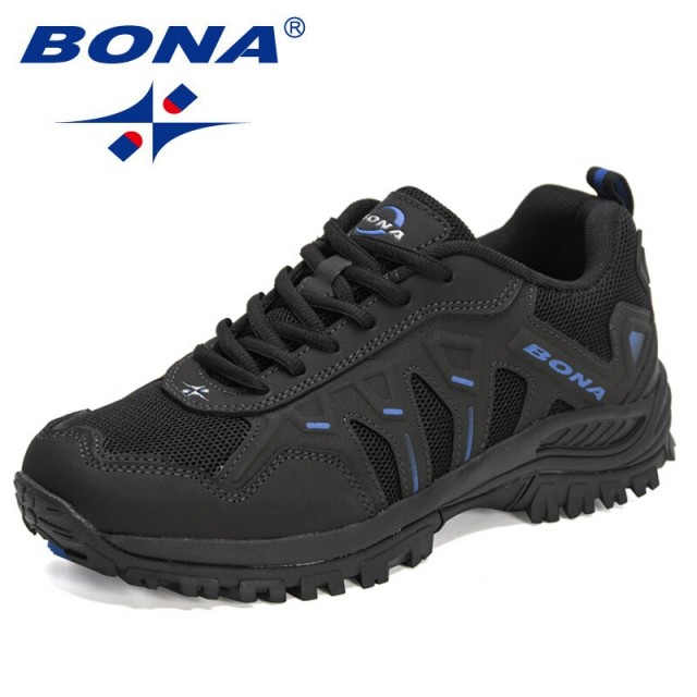 BONA 2021 New Designers Classic Sneakers Men Action Leather Running Shoes Man Sport Shoes Jogging Walking Footwear Mansculino