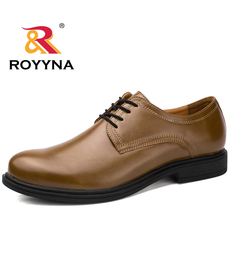 ROYYNA New Arrival Basic Style Men Formal Shoes Lace Up Round Toe Men Shoes Microfiber Men Dress Shoes Comfortable Free Shipping