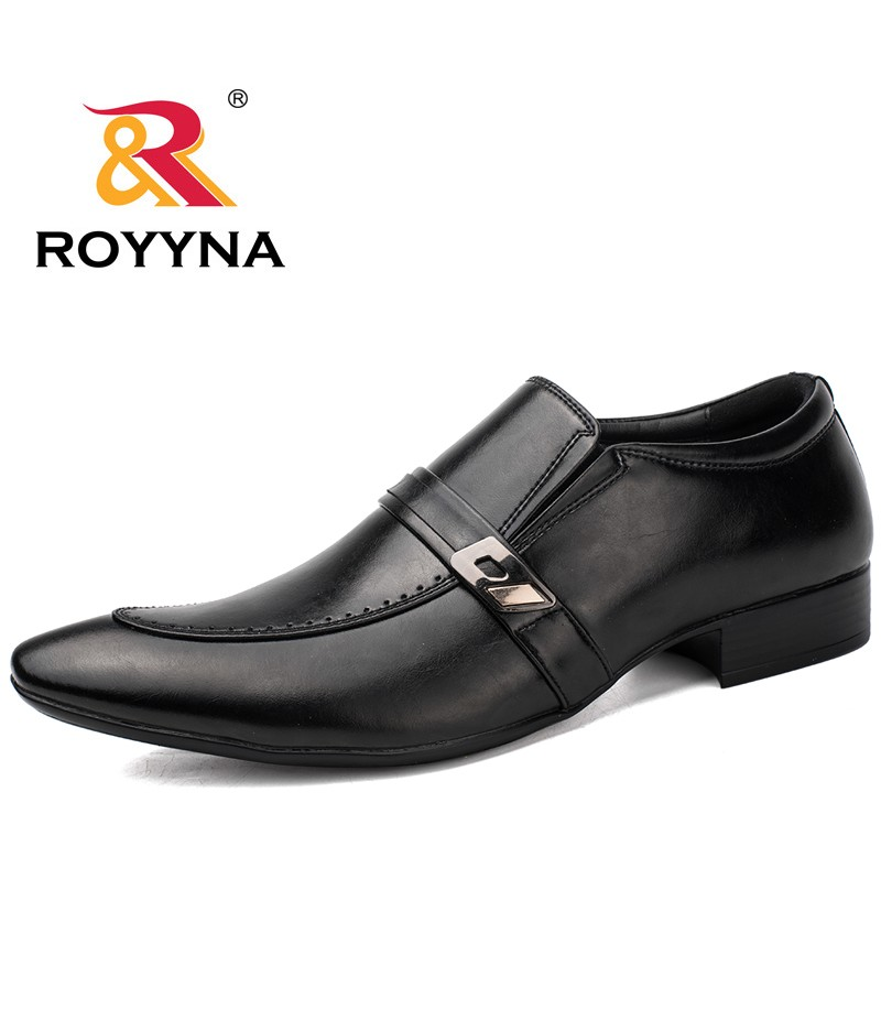 ROYYNA New Arrival Popular Style Men Formal Shoes Pointed Toe Elastic Band Men Loafers Comfortable Light Soft Men Wedding Shoes