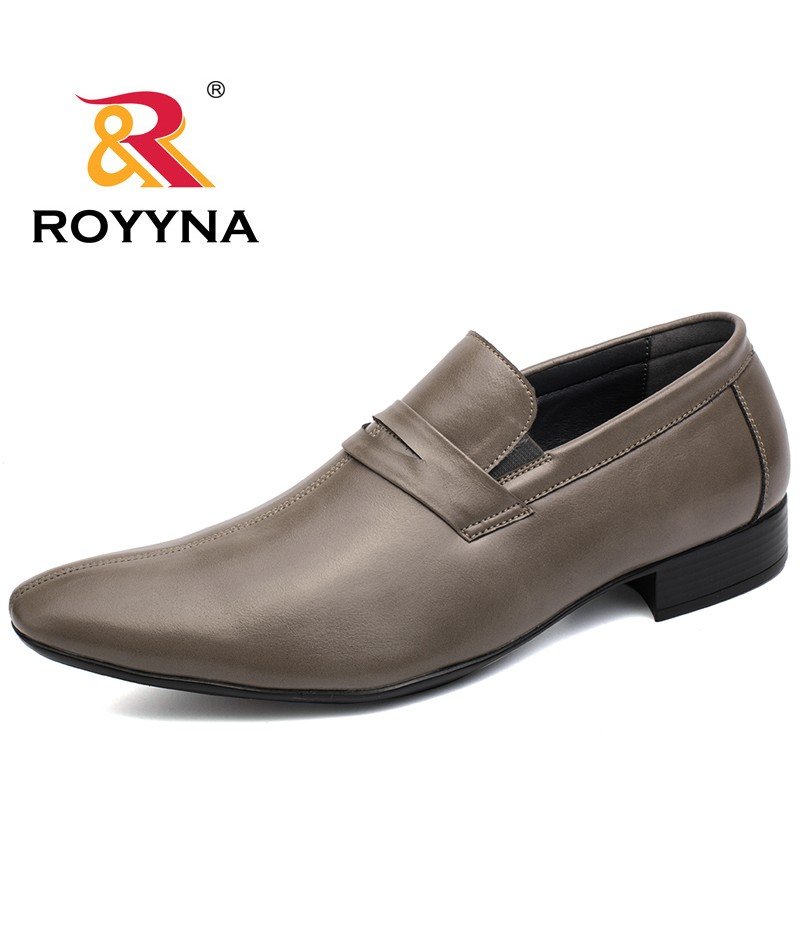 ROYYNA New Fashion Style Men Formal Shoes Elastic Band Round Toe Men Shoes Comfortable Men flats Shoes Light Soft Free Shipping