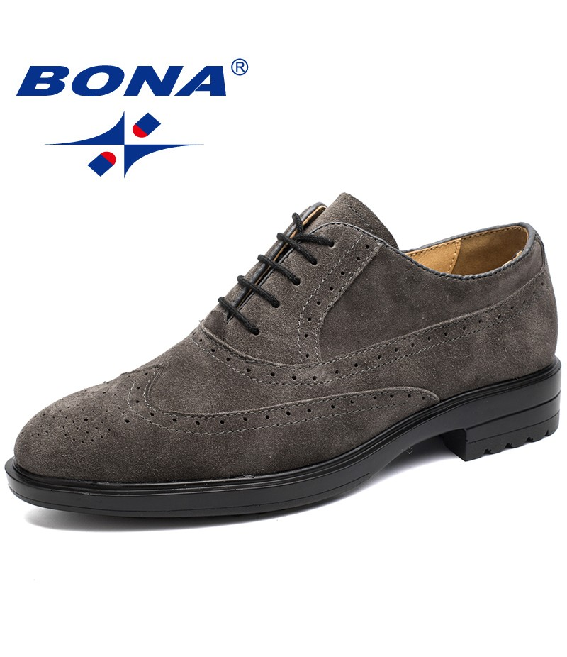 BONA New Typical Style Men Formal Shoes Lace Up Round Toe Men Oxfords Comfortable Men Shoes Breathable Men Office Shoes Retail