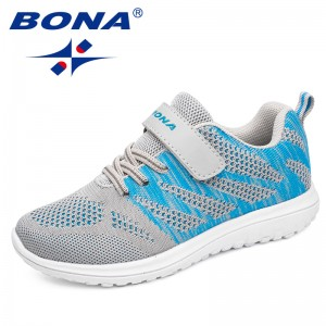 BONA New Arrival Chinese Shoes manufacture  Children Casual Shoes Mesh Sneakers Boys & Girls Flat Child Running Shoes Light Fast Free Shippin