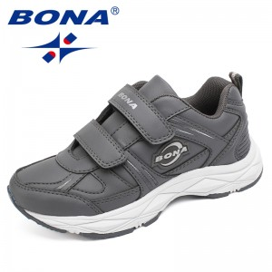 BONA Chinese Shoes manufacture  Children Casual Shoes Hook & Loop Boys Sneakers Outdoor Jogging Shoes Light Soft Free Shipping