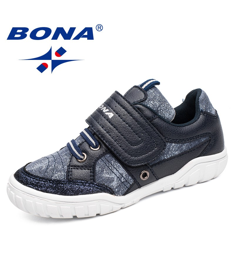 BONA New Classics Style Children Casual Shoes Canvas Boys & Girls Shoes Hook & Loop Sneakers Outdoor Jogging Shoes Free Shipping