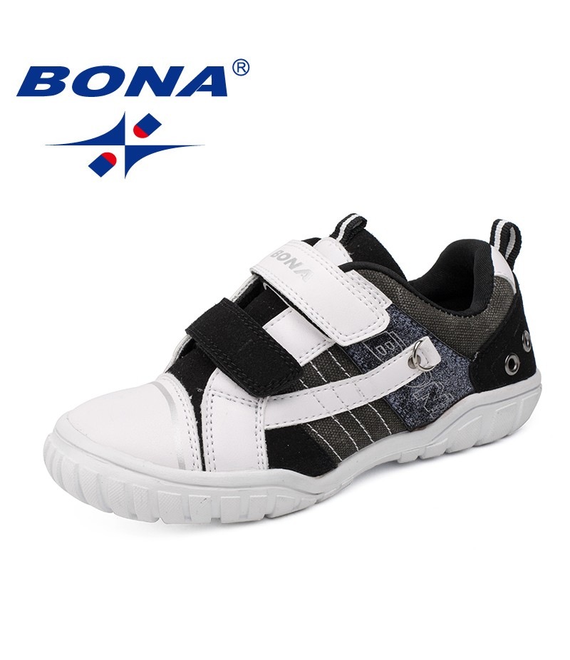 BONA New Classics Style Children Casual Shoes Hook & Loop Boys & Girls Sneakers Outdoor Walking Jooging Shoes For Kids