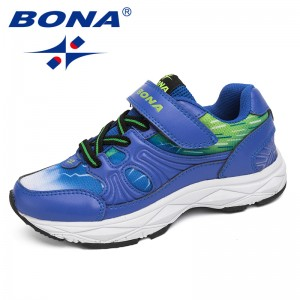BONA New Fashion Style Children Casual Shoes Outdoor Walking Jogging Shoes Hook & Loop Sneakers Comfortable Fast Free Shipping