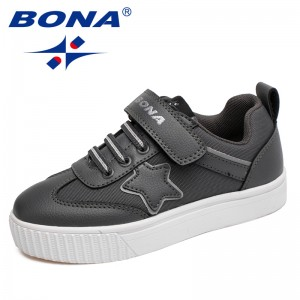 BONA New Typical Style Children Casual Shoes Hook & Loop Boys Shoes Synthetic Girls Flats Outdoor Jogging Sneakers Free Shipping