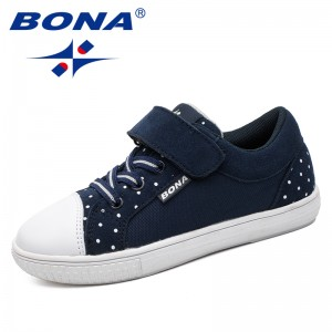 BONA New Style Children Casual Shoes Outdoor Jogging Sneakers Hook & Loop Girls Shoes Comfortable Breathable Fast Free Shipping