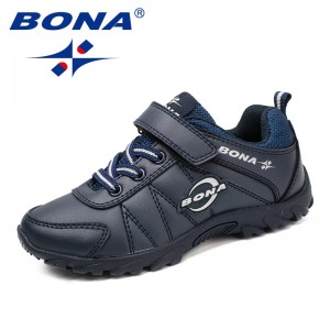 BONA Chinese Shoes manufacture  Children Casual Shoes Hook & Loop Boys Shoes Outdoor Jogging Sneakers comfortable Soft Free Shipping
