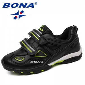 BONA New Fashion Style Children Casual Shoes Hook & Loop Boys Shoes Synthetic Girls Shoes Outdoor Jogging Sneakers Free Shipping