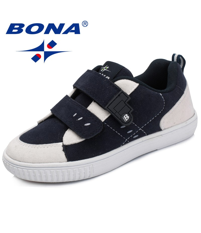 BONA New Fashion Style Children Sneakers Shoes Hook & Loop Boys Casual Shoes Synthetic Girls Flats Comfortable Free Shipping