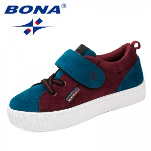 BONA New Arrival Style Children Casual Shoes Hook & Loop Boys Leisure Shoes Synthetic Girls Sneakers Light Soft Free Shipping