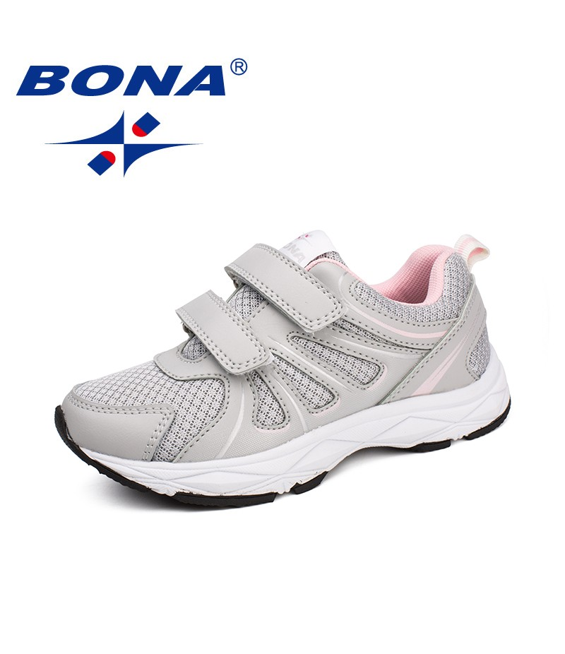 BONA New Arrival Typical Style Children Casual Shoes Mesh Girls Flats Hook & Loop Boys Loafers Outdoor Fashion Sneakers Shoes