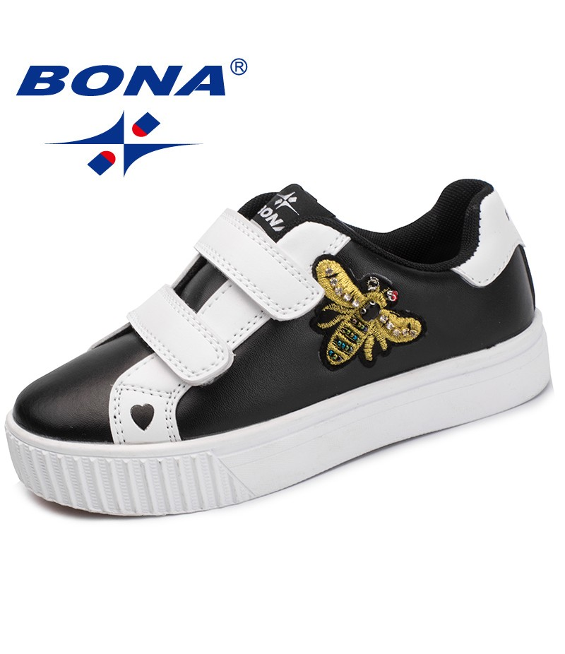 BONA New Arrival Fashion Style Children Casual Shoes Synthetic Girls Flats Outdoor Boys Sneakers Shoes Comfortable Free Shipp[in
