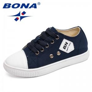 BONA New Fashion Style Children Casual Shoes Outdoor Walking Jogging Sneakers Lace Up Boys & Girls Canvas Shoes Free Shipping